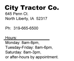 City Tractor Contact Us