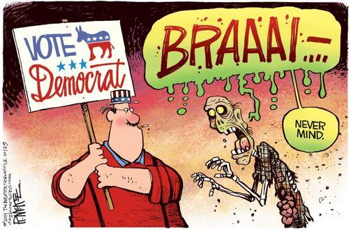 Democrat voter zombie