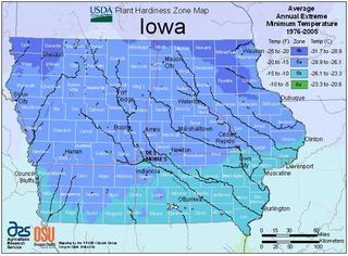 Iowa Planting Zone Map