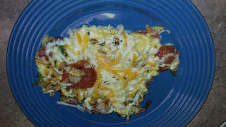 Pepperoni Scrambled Eggs