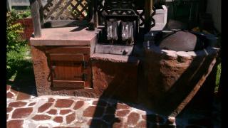 Backyard grill area