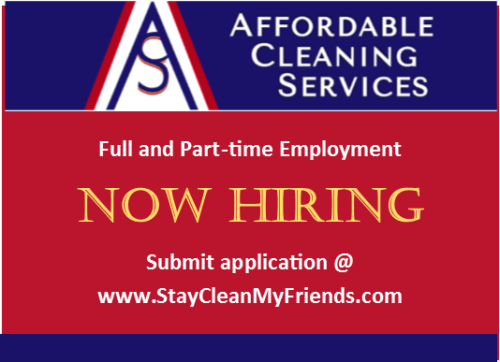 Affordable Cleaning Services Now Hiring
