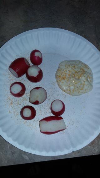 Radish snack