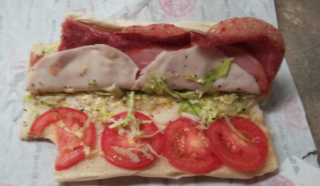 Jimmy John's Vito Sandwich on white