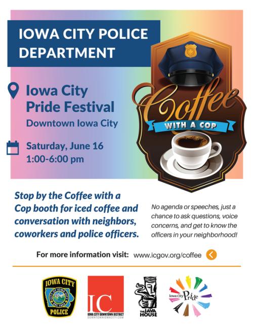 Coffe with a cop Iowa City Pride