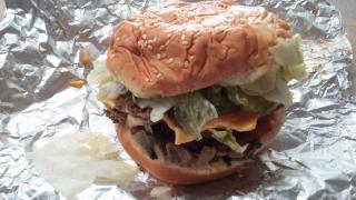 Five Guy's Bacon Double Cheeseburger
