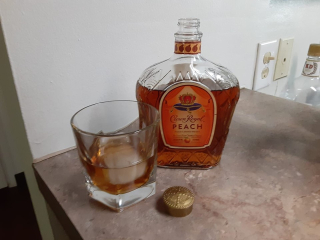 Crown Royal Peach on the rocks
