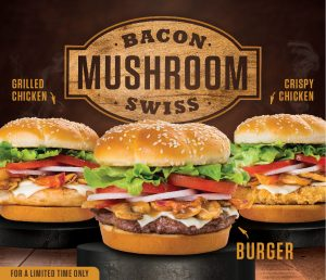 Braum's Bacon Mushroom Swiss Specials