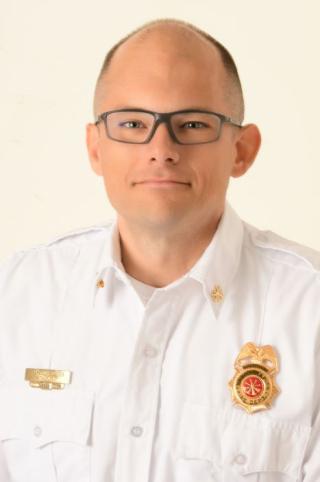 Assistant Cedar Rapids Fire Chief Andrew Olesen