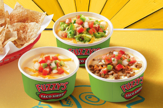 Fuzzy's Taco Shop's Famous Queso  Guacamole Queso and Ground Beef Queso copy