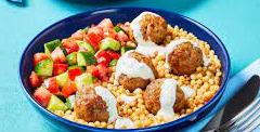 Greek Pork Meatball Bowls